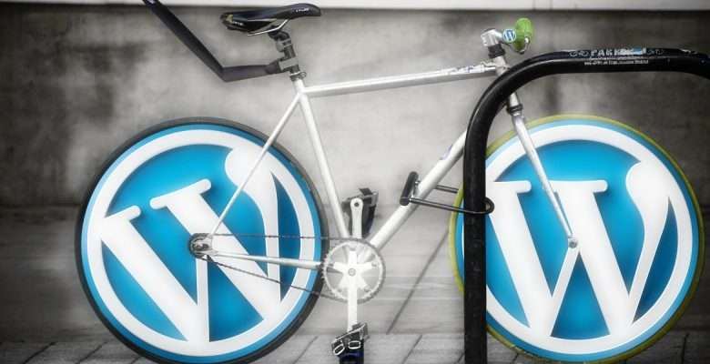 Bike with WordPress Wheels for Web Design